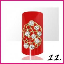 Biżuteria na paznokcie 3D z cyrkoniami 11