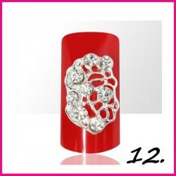 Biżuteria na paznokcie 3D z cyrkoniami 12