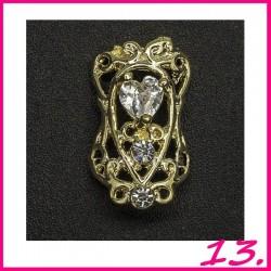Biżuteria na paznokcie 3D z cyrkoniami 13