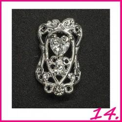 Biżuteria na paznokcie 3D z cyrkoniami 14
