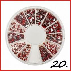 Cyrkonie czerwone w karuzeli nr 20
