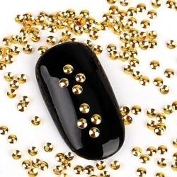 Ćwieki okrągłe złote 2mm - nr 3
