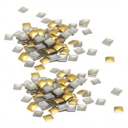 Ćwieki kwadratowe złote 3x3mm - 5