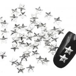 Ćwieki gwiazdki srebrne 5x5mm - 8