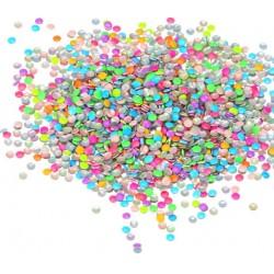 Ćwieki neonowe okrągłe mix kolorów 2mm - 15