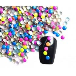 Ćwieki neonowe okrągłe mix kolorów 3mm - 16