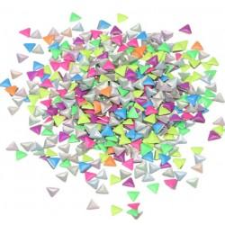 Ćwieki neonowe trójkąty mix kolorów 3x3mm - 17