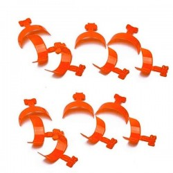 Tipsy mini pomarańczowe końcówki french- 100szt. w pudełku