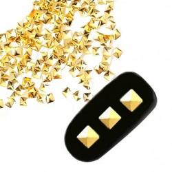 Ćwieki romb złote 5x5mm - 24