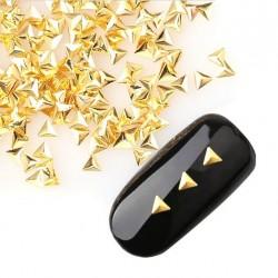 Ćwieki trójkąty złote 3mm -nr26