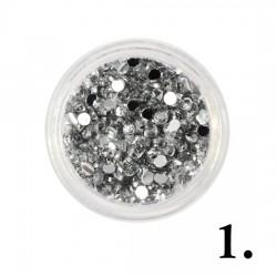 Cyrkonie srebrne 50szt 2mm