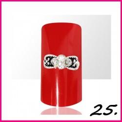 Biżuteria na paznokcie 3D z cyrkoniami 25