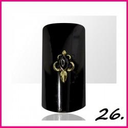 Biżuteria na paznokcie 3D z cyrkoniami 26