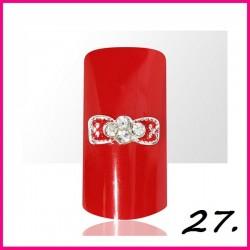 Biżuteria na paznokcie 3D z cyrkoniami 27