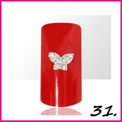 Biżuteria na paznokcie 3D z cyrkoniami 31