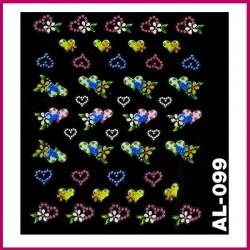 Naklejki na paznokcie 3D -AL-096