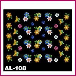 Naklejki na paznokcie 3D -AL-099