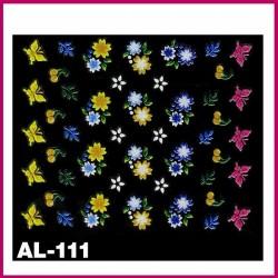 Naklejki na paznokcie 3D -AL-108