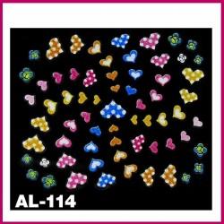 Naklejki na paznokcie 3D -AL-111