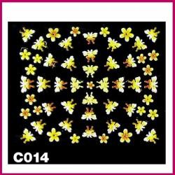Naklejki na paznokcie 3D -C-010