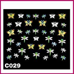 Naklejki na paznokcie 3D -C-022