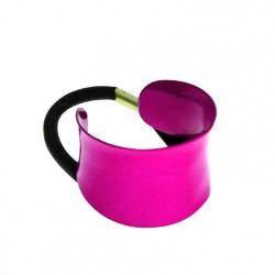 Gumka do włosów metalowa różowa