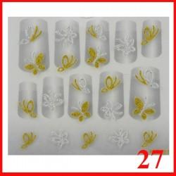 Naklejki na paznokcie 3D z cyrkoniami  - 27