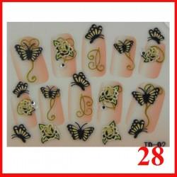 Naklejki na paznokcie 3D z cyrkoniami  - 28