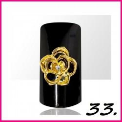 Biżuteria na paznokcie 3D z cyrkoniami 33