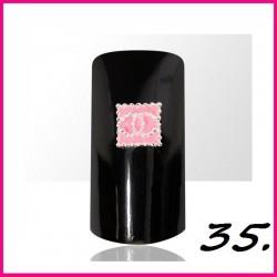Biżuteria na paznokcie 3D z cyrkoniami 35