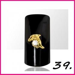 Biżuteria na paznokcie 3D z cyrkoniami 39