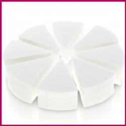 Gąbka kosmetyczna biała lateksowa 8szt