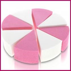 Gąbka kosmetyczna lateksowa biała, różowa 8szt