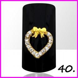 Biżuteria na paznokcie 3D z cyrkoniami 40