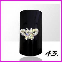 Biżuteria na paznokcie 3D z cyrkoniami 43