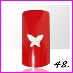 Biżuteria na paznokcie 3D z cyrkoniami 48