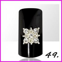 Biżuteria na paznokcie 3D z cyrkoniami 49