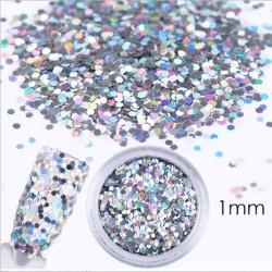 Piegi hologramowe srebrne opalizujące