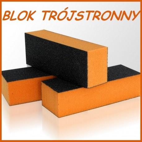 Blok do stóp trójstronny pomarańczowy
