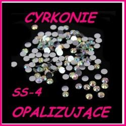 Cyrkonie typu Swarowski Crystal Opalizujące AB ss-4