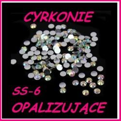 Cyrkonie typu Swarowski Crystal Opalizujące AB ss-6