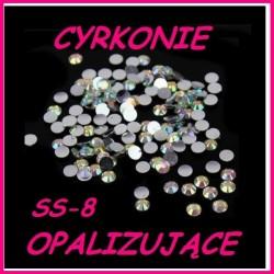 Cyrkonie typu Swarowski Crystal Opalizujące AB ss-8