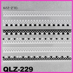 Naklejki na paznokcie 3D QLZ-229