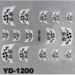 Naklejki na paznokcie 3D YD-1200