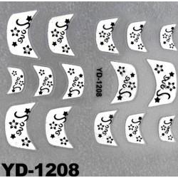 Naklejki na paznokcie 3D YD-1208