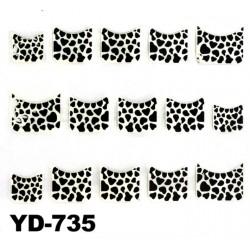 Naklejki na paznokcie 3D YD-735