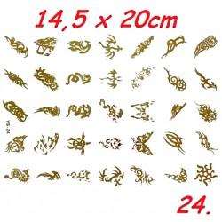 Tatuaż BOHO duży nr 24 14,5x20cm