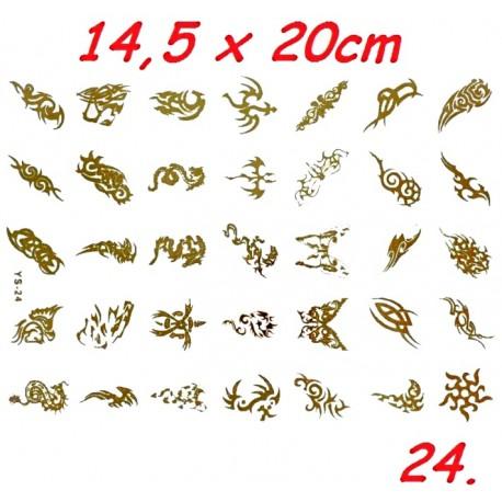 Tatuaż BOHO duży nr 25 14,5x20cm