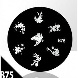 Blaszka ze wzorkami do stempli roz. XS B75