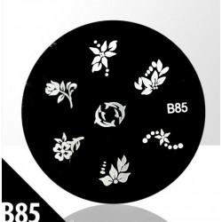 Blaszka ze wzorkami do stempli roz. XS B85